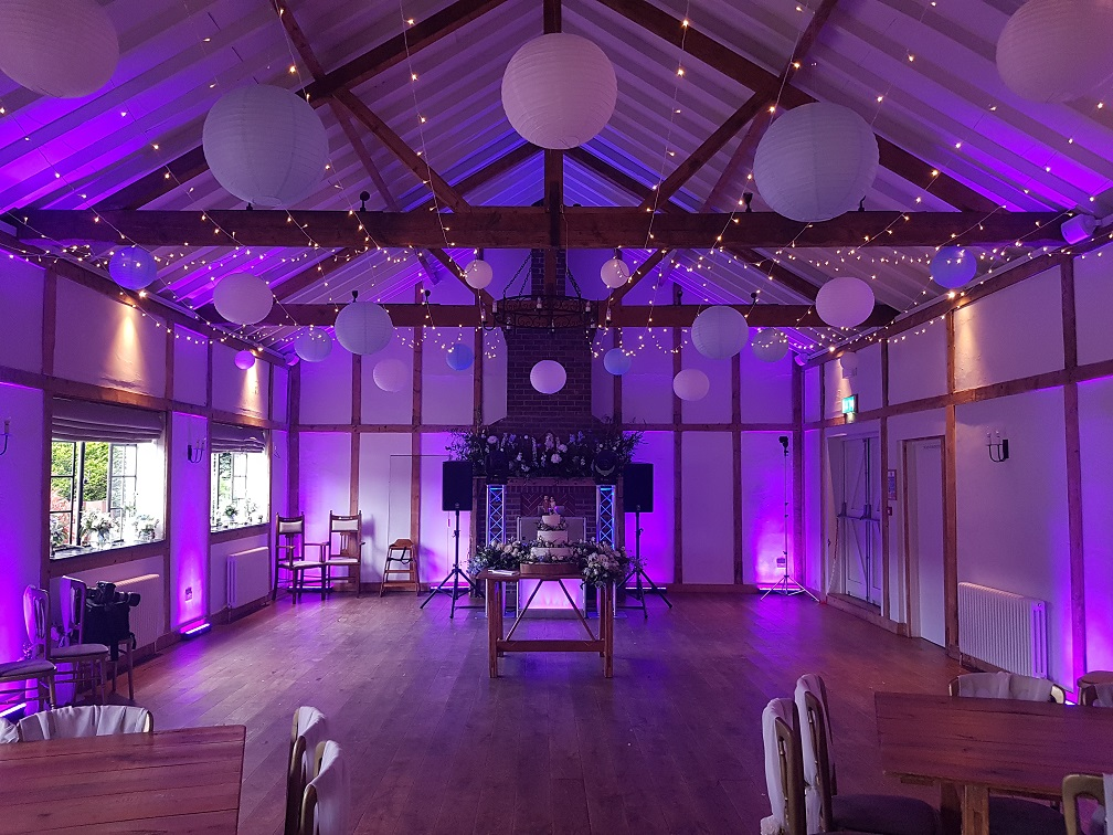 Disco Wedding Burley Manor Barn